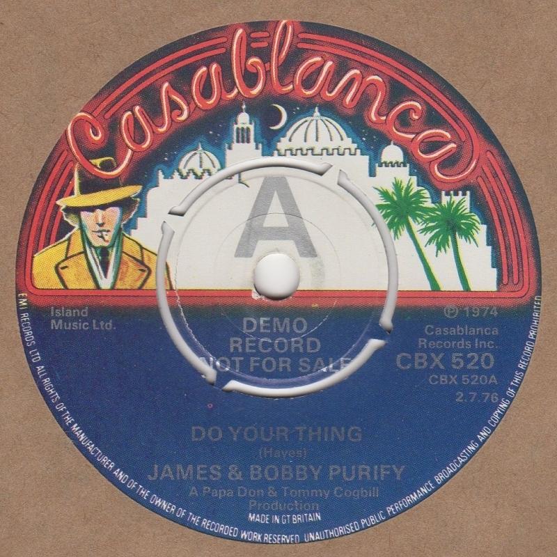 James & Bobby Purify - Do Unto Me / Everybody Needs Somebody