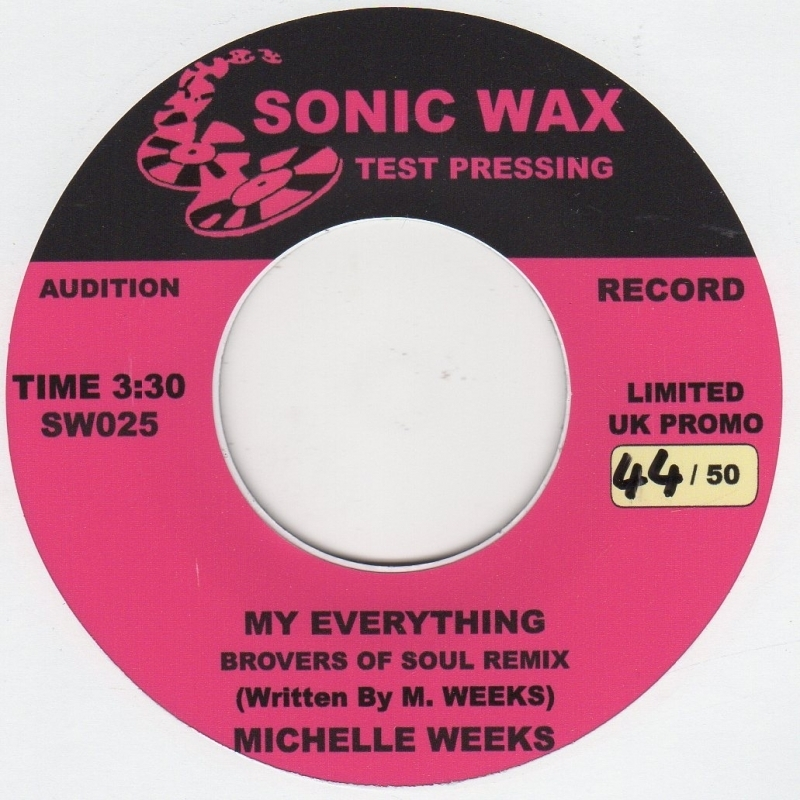 Michelle Weeks My Everything Sonic Wax SW 025 Demo Soul