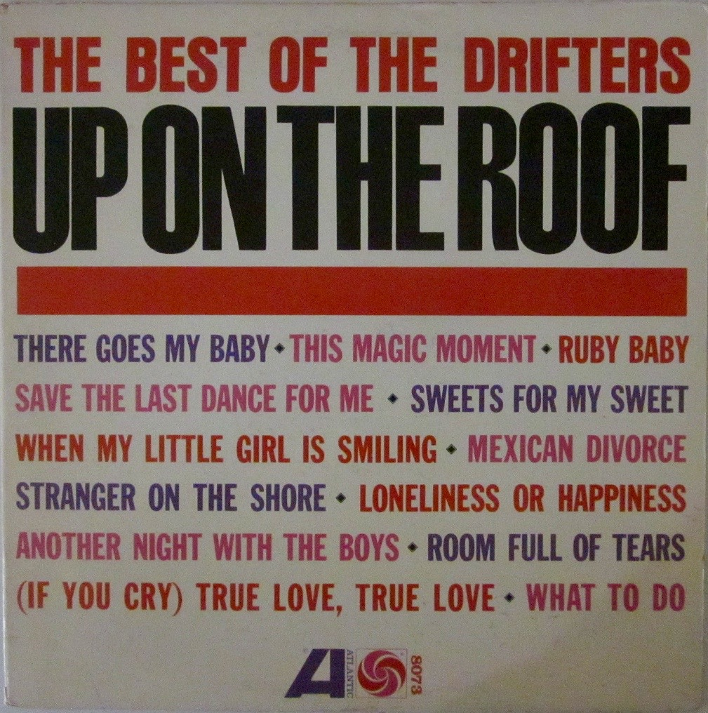 Details about Drifters Up On The Roof - The Best Of The Drifters LP  Atlantic 8073 Soul Norther
