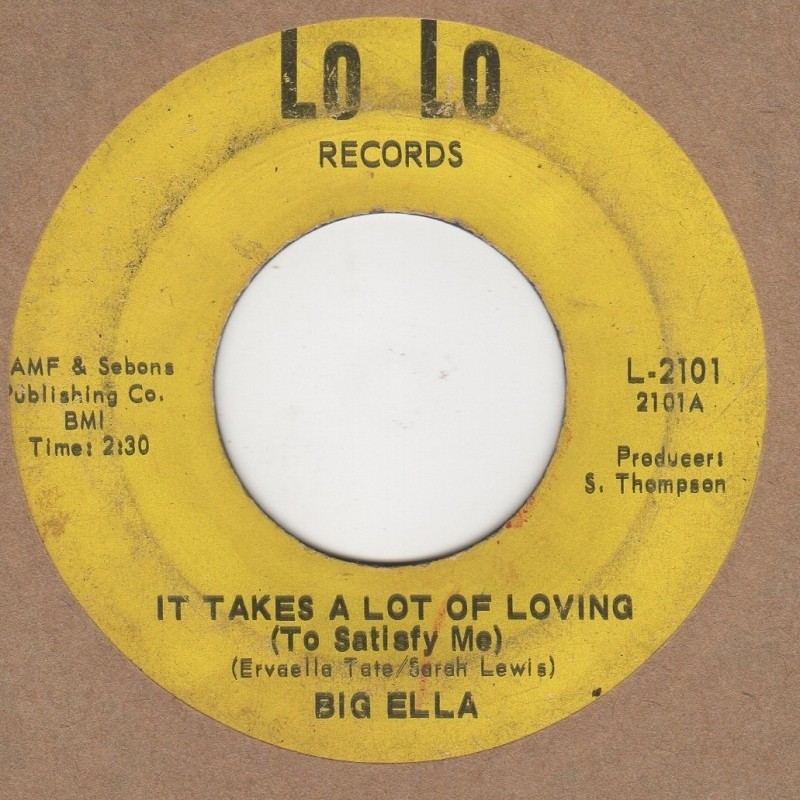 It Takes A Lot Of Loving (To Satisfy Me) / I Need A Good Man