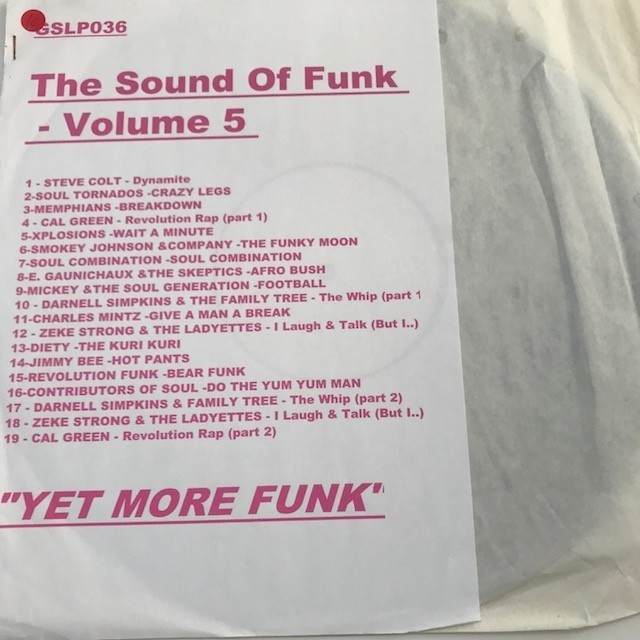 The Sound Of Funk Volume 5 LP