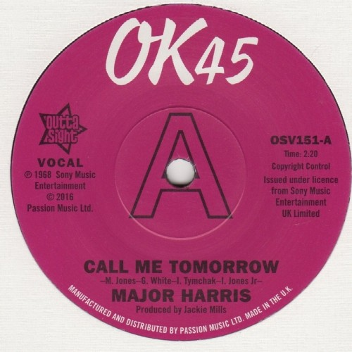 Call Me Tomorrow / Where Have All The Flowers Gone (Demo)